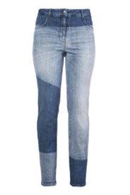 Boyfriend-Jeans in Patch-Optik, weiter Schnitt