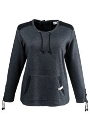 Sweatshirt mit Ärmelschnürung und Kängurutaschen