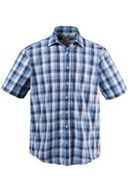 Chemise à carreaux en lin