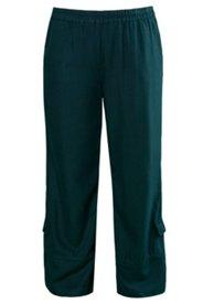 Pantalon Tencel jambes évasées ceinture élastiquée