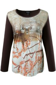 Shirt manches longues jersey motif cerf