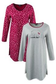 Big T-shirts en lot de 2 ours polaire et flocons de neige