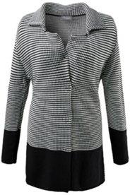 Veste motif noir et blanc bases noires