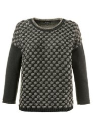 Pull boxy maille 3D encolure oversize