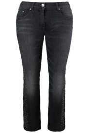 Jeans strass coupe 5 poches jambes étroites