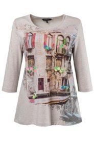 T-shirt motif Venise manches 3/4