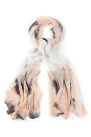 Cette écharpe se porte comme un tableau d´art avec son imprimé aquarelle allover!