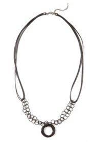Collier long anneaux fantaisie