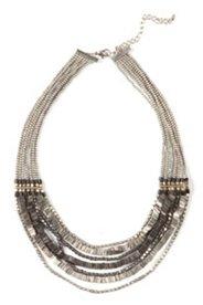 Collier court mix de perles