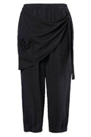 Pantalon 7/8 twill lyocell naturel jupe à nouer