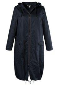 Manteau twill de coton bio capuche poches à rabat