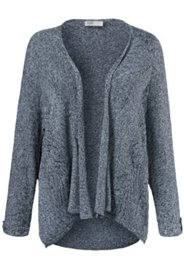 Cardigan maille coton bio coupe boxy manches longues