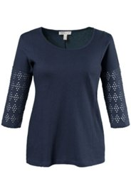 Pull jersey coton bio oversized manches 3/4
