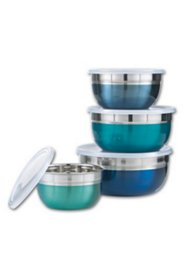 "Lot de 4 saladiers ""Blue-Sea"""