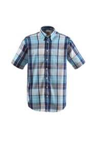 Chemise à carreaux, manches courtes, modern fit