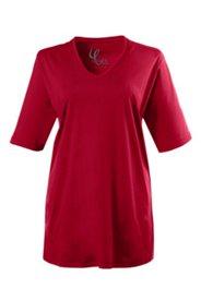 T-Shirt, V-Ausschnitt, reine Baumwolle, Halbarm