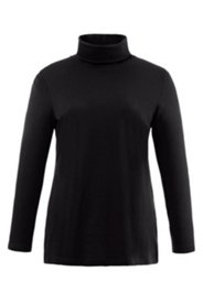 Basic-Shirt, Rollkragen, körpernaher Schnitt, Baumwolle