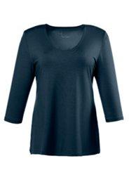 Shirt, doppelte Stofflage, 3/4-Arm, Viskose-Crêpe