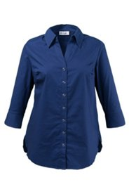 Business-Bluse mit Elasthan, 3/4-Arm
