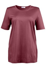 T-Shirt mit Strukturringel und Seitenschlitzen