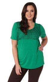 Shirt, Halbarm, mit attraktiver Kordelstickerei