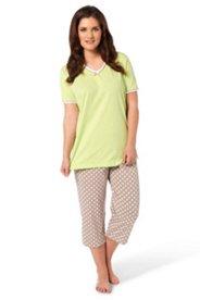 Pyjama mit V-Ausschnitt und 7/8-Hose
