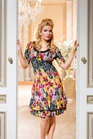 Kleid mit Blumenprint, Halbarm