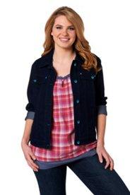 Jeansjacke aus elastischem Stretchdenim
