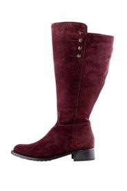 Stiefel aus Veloursleder im Military Style, Weite: H.