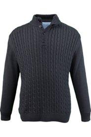 Zopf-Pullover mit Ellbogenpatches
