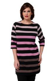 Streifen-Longshirt mit elegantem Design aus Viskosejersey