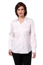 Hemdbluse in elastischer Baumwoll-Qualität mit Elasthan