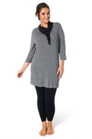 Kleid mit 3/4-Arm aus Feinstrick