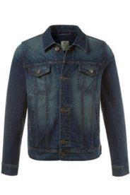 Jeansjacke, weitenverstellbar, Hemdkragen, Stretchkomfort
