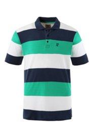 Poloshirt mit breitem Ringel, Halbarm