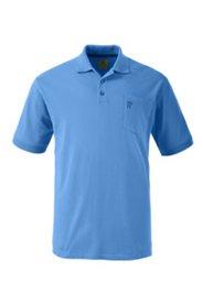 Halbarm-Poloshirt mit gestreiftem Unterkragen