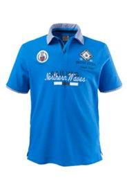 Halbarm-Poloshirt in 2 in 1 Optik