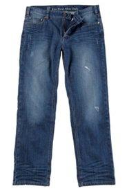 5-Pocket-Jeans, Straight Fit, mit Used-Effekten