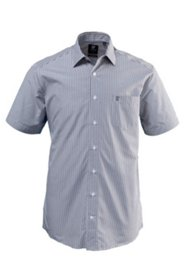 Halbarm-Streifenhemd, Comfort Fit, EasyCare
