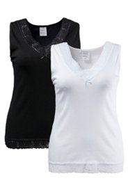 Hemdchen, 2er-Pack, breite Träger