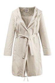 Mantel mit Schalkragen und Kapuze, 100% Baumwolle