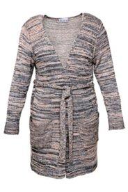 Cardigan, langes Modell mit Gürtel, 100% Baumwolle