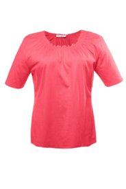 T-Shirt mit Carmen-Ausschnitt, 100 % Baumwolle