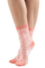 Socken mit Blütenmuster