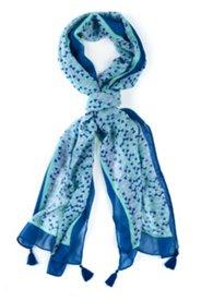 Weicher Schal mit Bommeln