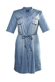 Hemdblusenkleid im Jeanslook, mit Gürtel