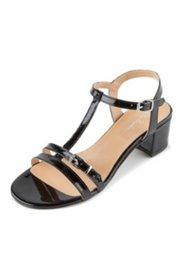 Sandaletten aus Lackleder, Weite H