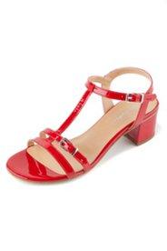 Sandalette aus Lackleder, Weite H