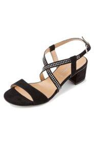 Sandalette mit Ziersteinen, Weite H