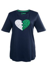 Pyjama mit Herzapplikation, Halbarm